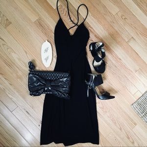 Dresses & Skirts - Backless Strappy Cowl Gown